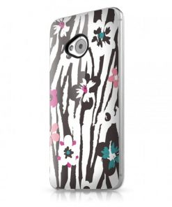 Itskins Phantom HTC One - Zebra Flower