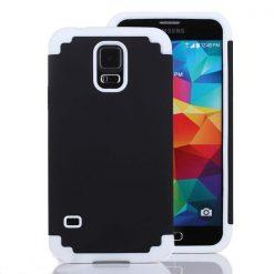 Samsung G900 Galaxy S5 Black & White Tough Armor Case