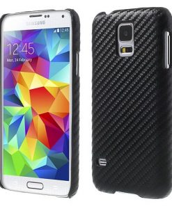 Samsung G900 Galaxy S5 Black Carbon Clip On Back