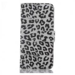 iPhone 6 Plus / iPhone 6S Plus White & Black Leopard Print Wallet Case-0