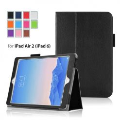 iPad Air 2 Black Side Opening Wallet Case With Stand-0