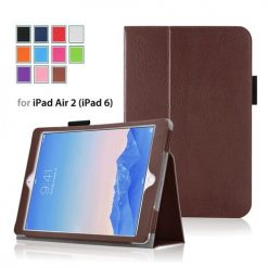 iPad Air 2 Brown Side Opening Wallet Case With Stand-0