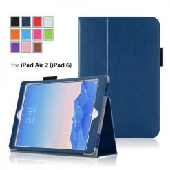 iPad Air 2 Blue Side Opening Wallet Case With Stand-0