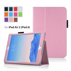 iPad Air 2 Baby Pink Side Opening Wallet Case With Stand-0