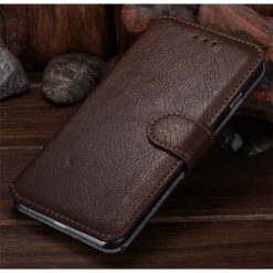 iPhone 6 Plus / iPhone 6S Plus Brown Premium Quality Wallet Case With Stand-0