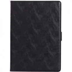 iPad Air 2 Black Premium Quality Crazy Horse Wallet Case With Cash & Card Holder-0