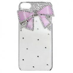 iPhone 6 Clear Back With Diamond Bow