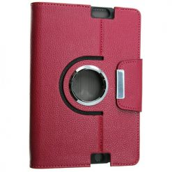 Amazon Kindle Fire HD 2013 Pink Rotating Flip Pouch / Case With Stand