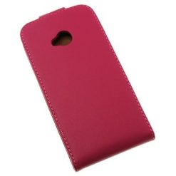 HTC One (M7) Hot Pink Flip Case / Pouch