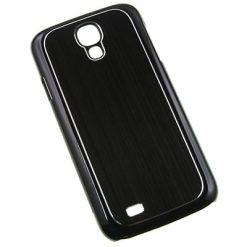 Samsung i9500 Galaxy S4 Black Aluminium Effect Clip On Back