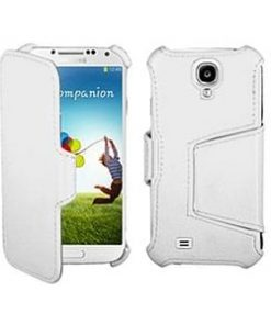 Samsung i9500 Galaxy S4 White Hot Press Wallet Case