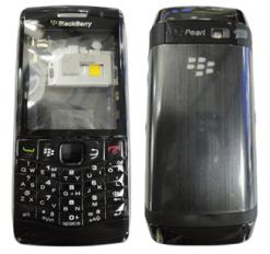 Blackberry 9100 / 9105 / Curve 3G Full Black Housing-0