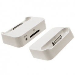 iPhone 4 / 4S White Dock / Desk Stand-0