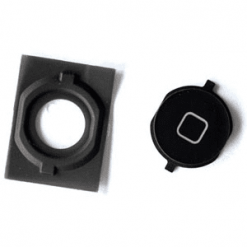 iPhone 4S Black Home Button With Fixing Kit-0