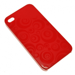 iPhone 4 / 4S Red Swirly Back-0