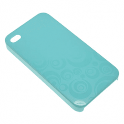 iPhone 4 / 4S Blue Swirly Back-0