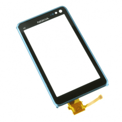 Nokia N8 Lens With Digitiser And Blue Frame-0