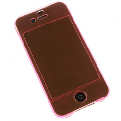 iPhone 4 / 4S Full Pink Gel, Covers Front and Back-0