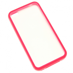 iPhone 4 / 4S Matte Hard Pink Back With Gel Outer-0