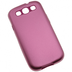 Samsung i9300 Galaxy S3 Pink Metallic Back With Silicone Inner-0