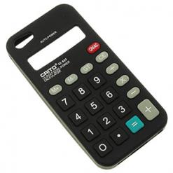 iPhone 5 / 5S Black Silicone Calculator Case-0
