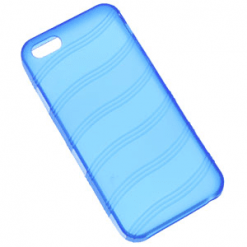IPhone 5 / 5s Blue Wave Gel Case-0