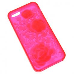 iPhone 5 / 5S / SE Pink Flower Design Gel Case