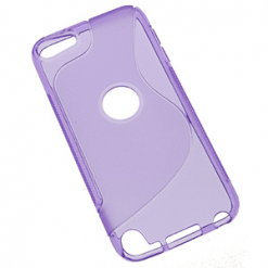 iPod Touch 5th Generation Purple S-Line Gel Case-0