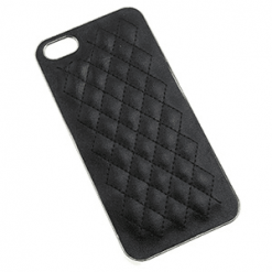 iPhone 5 / 5s Black Quilted Chrome Back-0