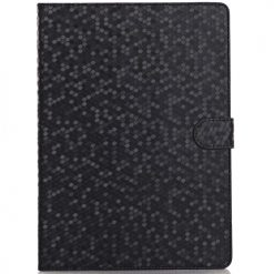 iPad Air 2 Black Honeycomb / Diamond Pattern Case With Stand-0