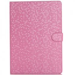 iPad Air 2 Pink Honeycomb / Diamond Pattern Case With Stand-0