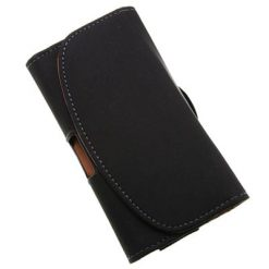 iPhone 5 Black Horizontal Pouch With Belt Clip