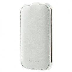 HTC One (M7) White Hot Press Flip Case