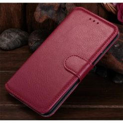 iPhone 6 Plus / iPhone 6S Plus Pink Premium Quality Wallet Case With Stand-0