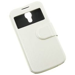 Samsung i9190 Galaxy S4 Mini S-View Compatible White Wallet Case