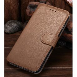 iPhone 6 Plus / iPhone 6S Plus Tan Premium Quality Wallet Case With Stand-0