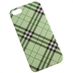 iPhone 5 / 5s / SE Green Tartan Clip On Back