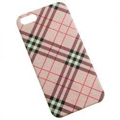 iPhone 5 / 5s / SE Pink Tartan Clip On Back