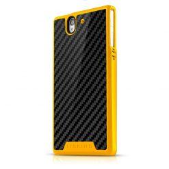 Itskins Atom Sheen Carbon Xperia Z - Yellow